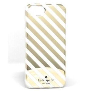 Kate Spade Gold Diagonal Stripe iPhone 7/8 Case